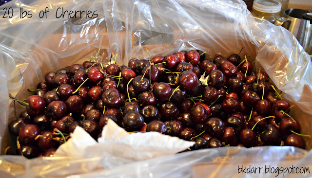 Rum Soaked Canned Cherries & Molasses