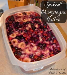 Spiked Challange! – Champagne Jello