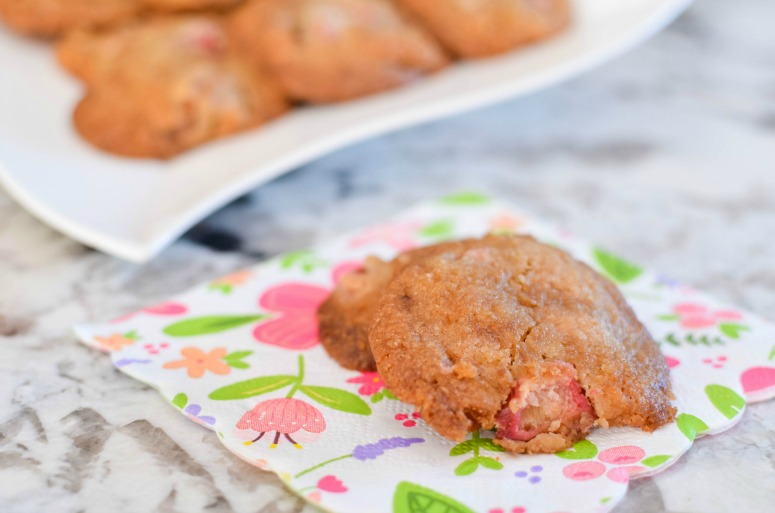 Soft Cookies featuring fresh Rhubarb