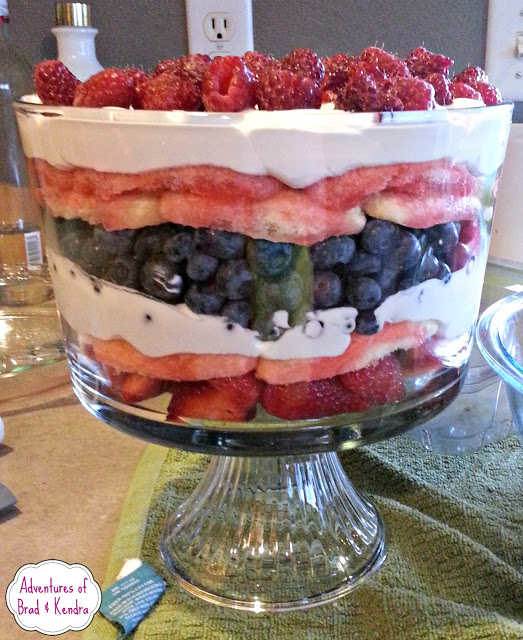 4th of July Inspired Dairy Free Berry Trifle