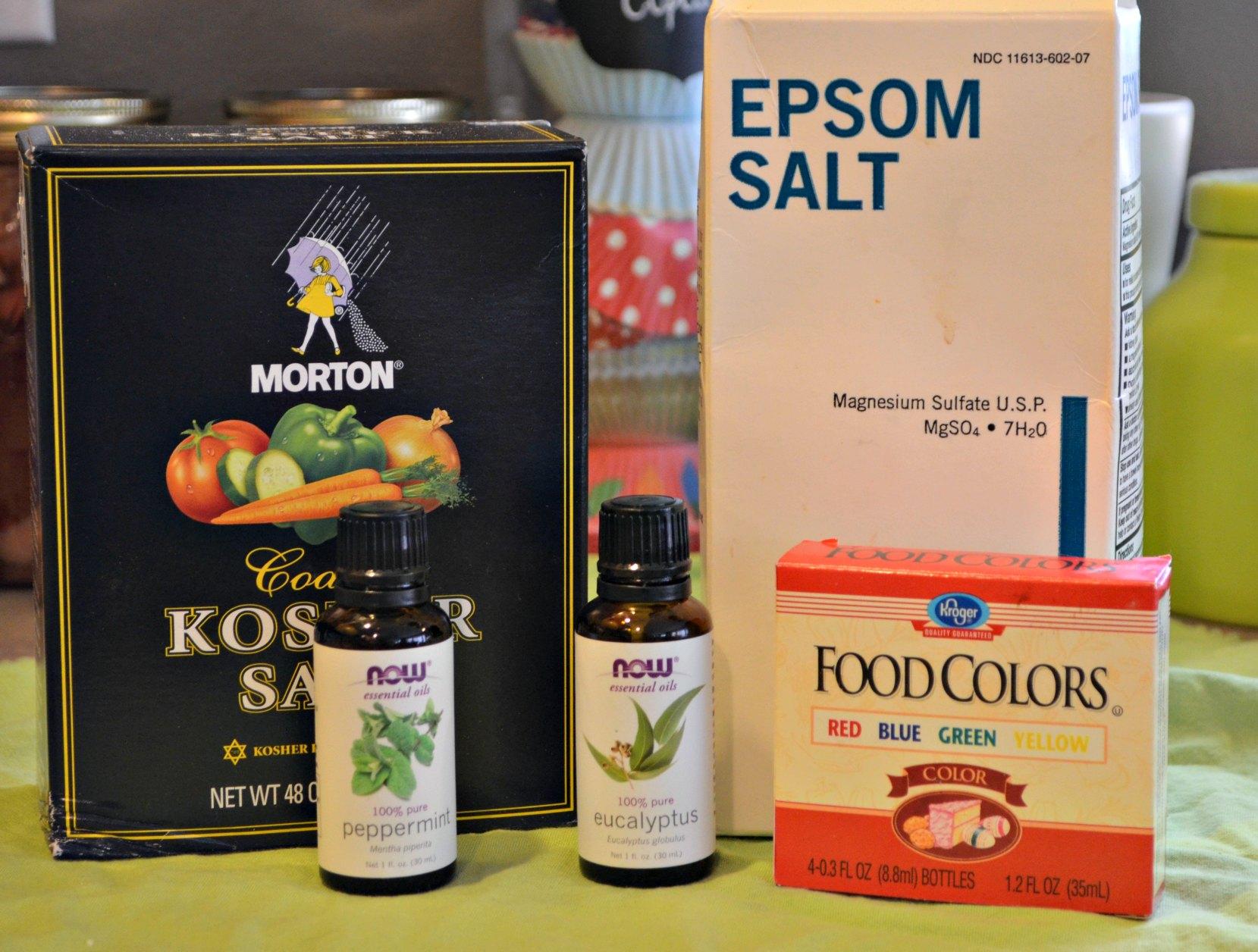 Ingredients for DIY Bath Salts