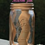 Chevron Painted Mason Jar