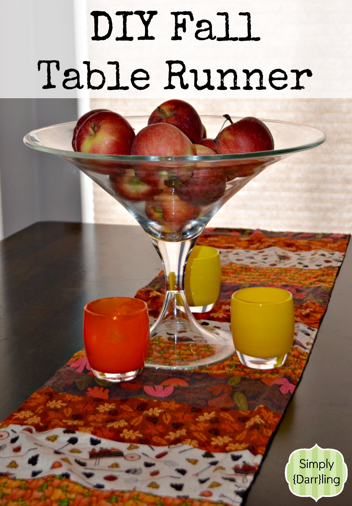 diy fall table runner simply darr ling