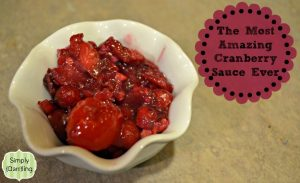 Amazingly Delicious Cranberry Sauce