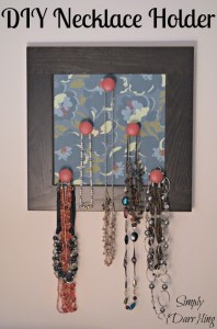 DIY Necklace Holder – A fun way to display your necklaces