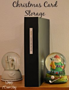 Storing Christmas Cards
