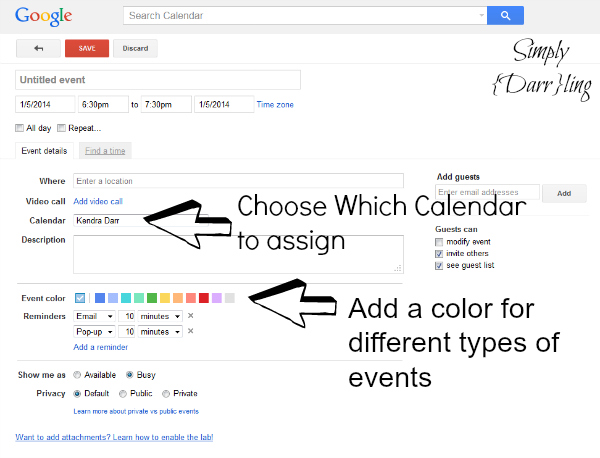 Add Event to Google Calendar
