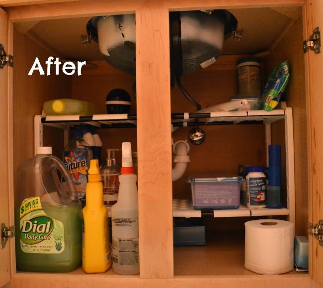 After Under The sink Organization