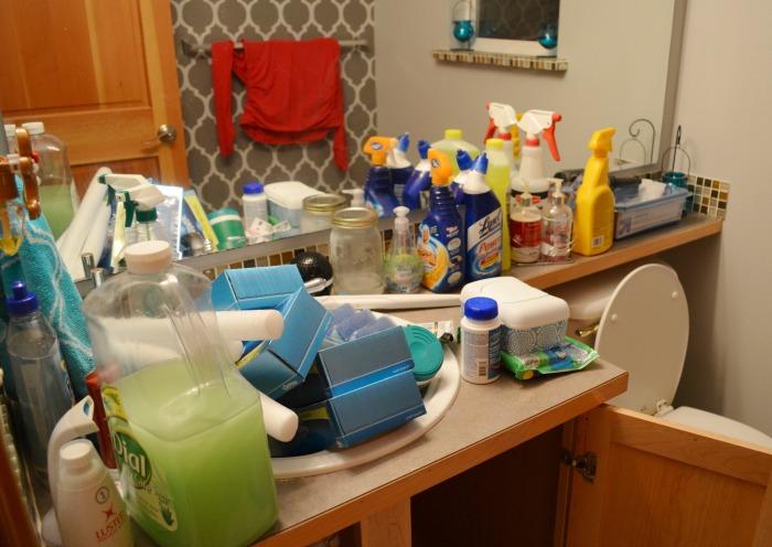 Under the sink organization during