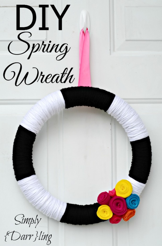 DIY Spring Yarn Wreath