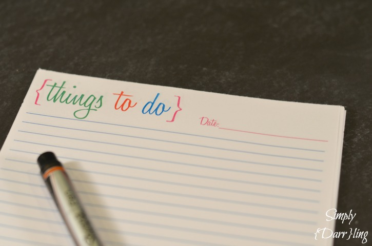 DIY to do list notepad