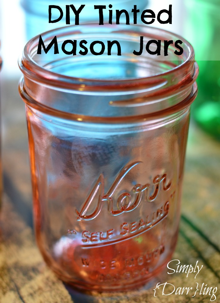 DIY Tinted Mason Jar