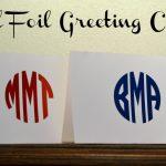 DIY Gold Foil Greeting Card