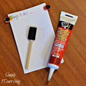 Materials for a diy to do list