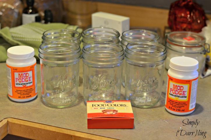 Materials for Tinted Mason Jars