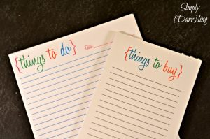 DIY to do and shopping list