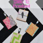 Washi Tape Scrabble Tile Pendant