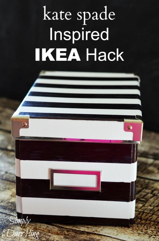 Kate Spade Inspired Ikea Box
