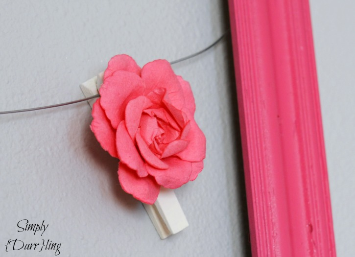 Paper Flower Clothespin