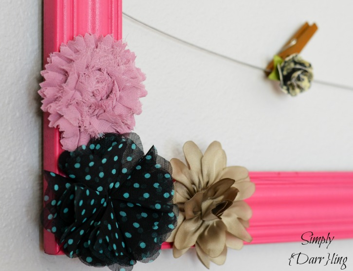 Flowers on Shabby Chic Memo Board