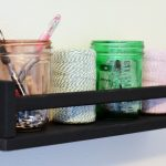 Ikea Spice Rack as Craft Storage
