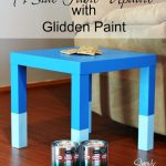 A Side Table Update with Glidden Paint