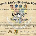 DIY Harry Potter Hogwarts Diploma