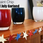 Paint Chip 4th of July Garland