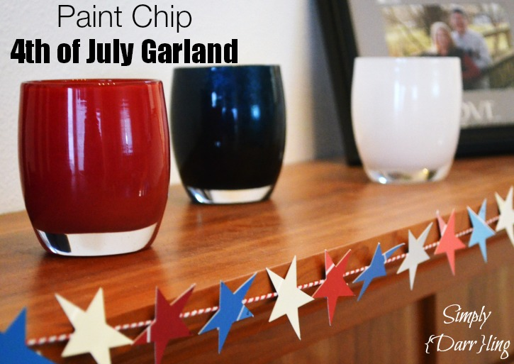 Paint Chip Star Garland