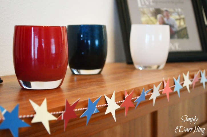Paint Chip Garland with Glassybaby