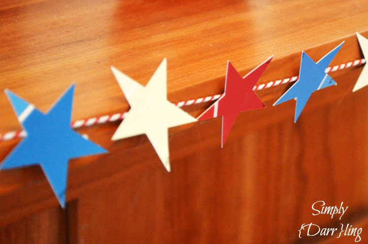 Paint Chip 4th of July Star Garland