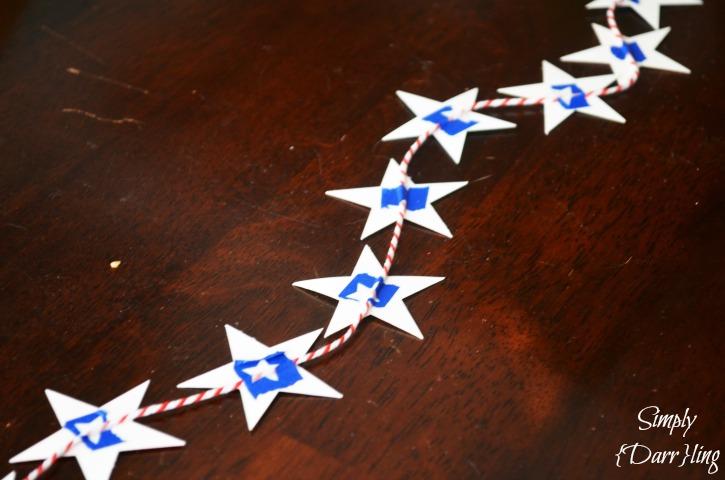 Star garland taped