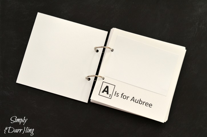 A is For.... Scrabble Alphabet Book