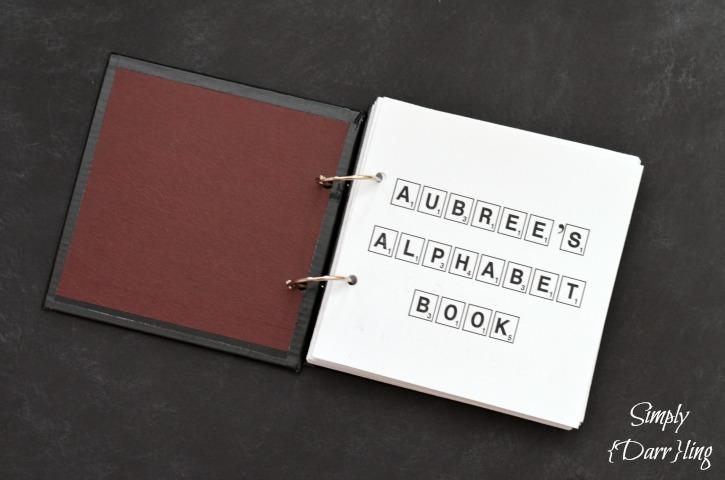 Scrabble Alphabet Book