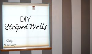 DIY Painted Striped Walls