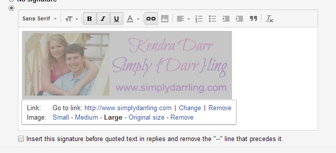 Add Image to Gmail Signature