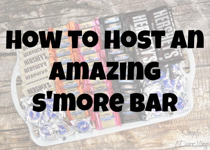 hosting a s'more bar