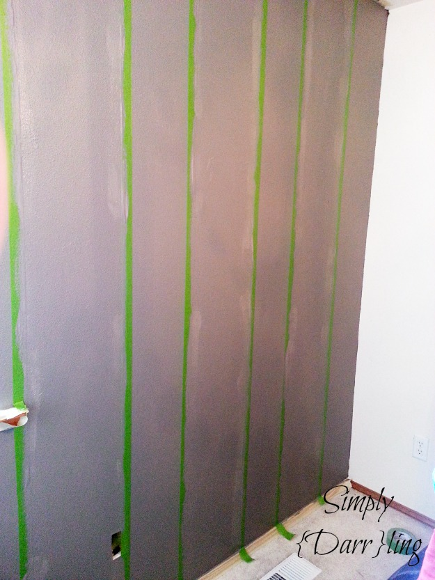 tape on striped walls