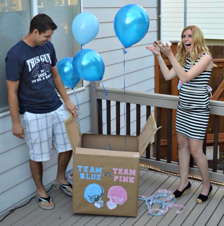 gender reveal balloon box