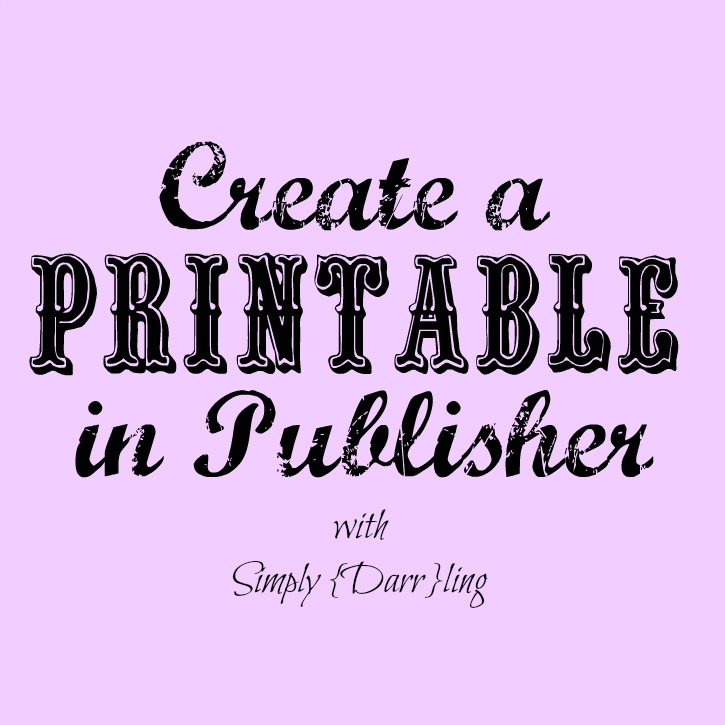 Create Printable Publisher