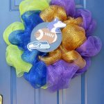 Football Deco Mesh Wreath