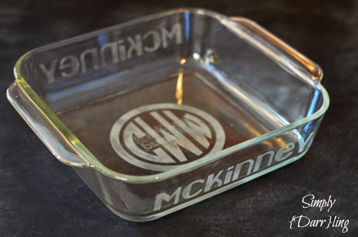 Etched Glass Baking Dish