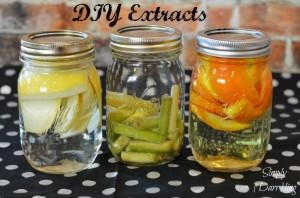 DIY Orange, Lemongrass and Lemon Extracts