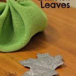 DIY Glittered Leaves