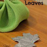 DIY Glittered Leaves