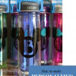 Personalized monogram disney water bottle