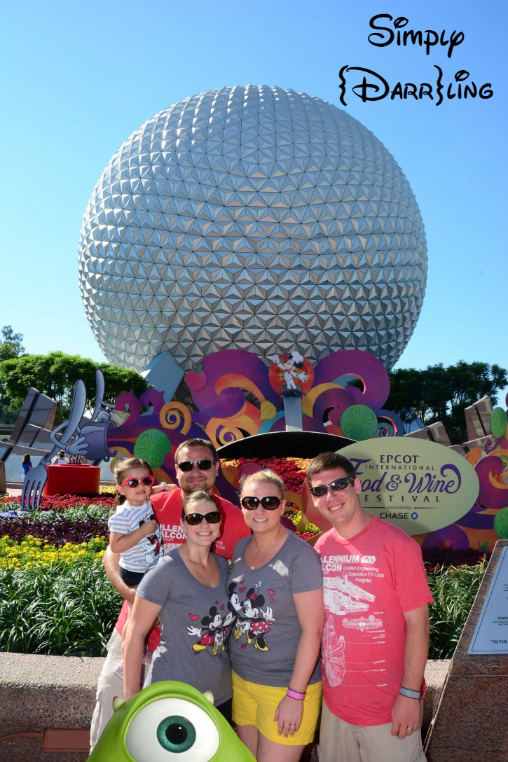 Mike and the Epcot ball