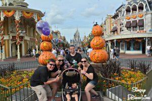Magic Kingdom Decorated for Halloween
