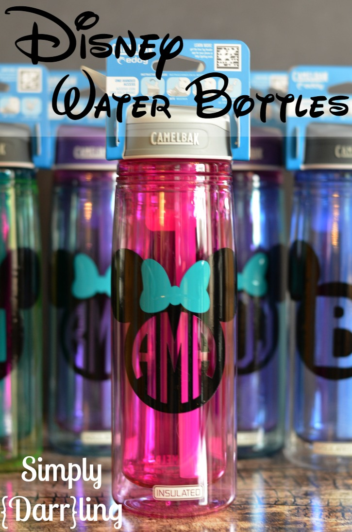 Monogram Disney Water Bottle
