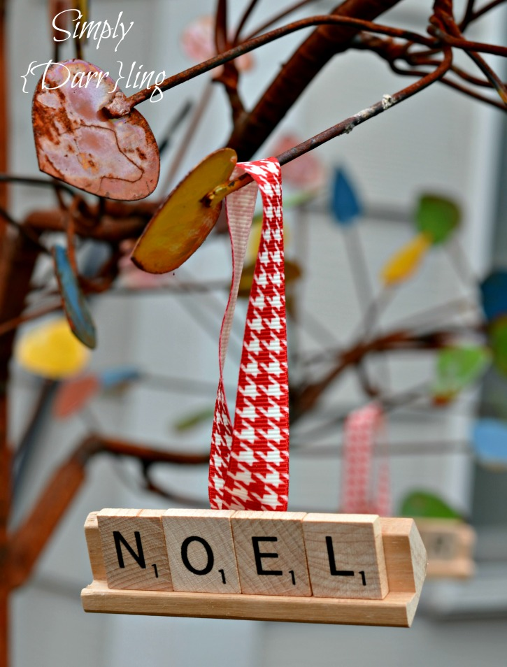 Noel Christmas Scrabble Tile Ornament